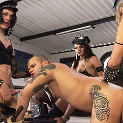 Dominate trannies abuse their slave.