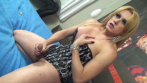 latin tranny with monstrous hard ramrod is pla