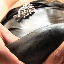 Brenda lohan is sexy in black latex.
